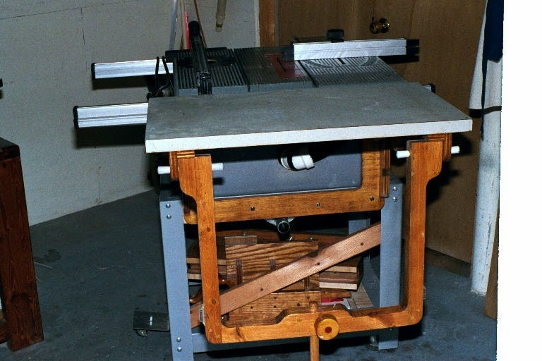Folding Outfeed Table for BT3000 - The SawdustZone