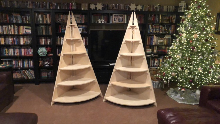 Village Christmas Tree Stand.Christmas Village Stand Version 2 The Sawdustzone